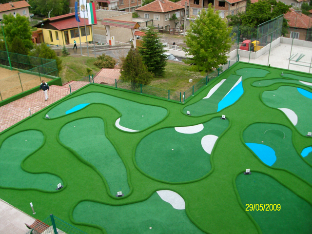 Miniature Golf Course Design Skee Ball on baseball golf, hockey golf, plinko golf,
