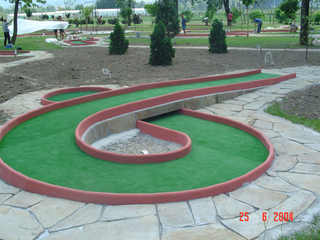 CONSTRUCTION OF MINIATURE GOLF COURSE |